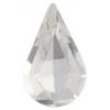 Preciosa Machine Cut pear 6X10mm Foiled Crystal